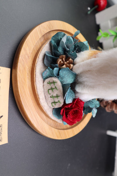 According to the photo dog custom wool felt handmade avatar simulation commemorative gift