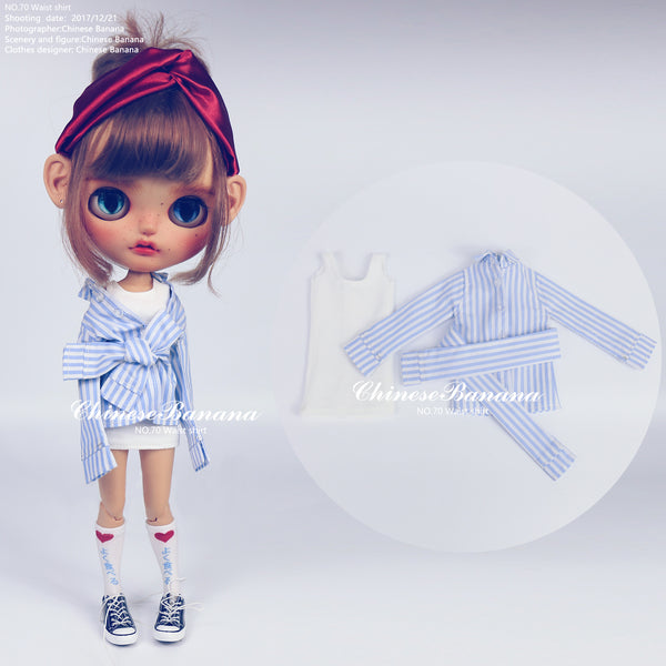 Neo blythe baby clothes everyday wind straps shirt