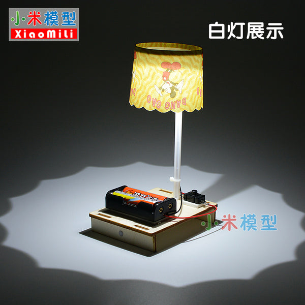 Creative small table lamp technology small making girl diy material handmade homemade