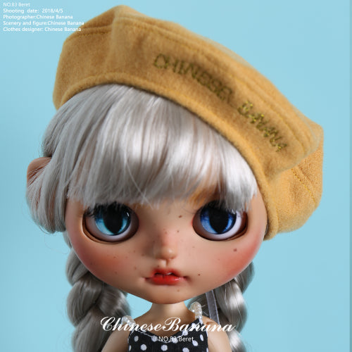 Neo blythe baby clothes, doll doll beret, painter hat, new five colors