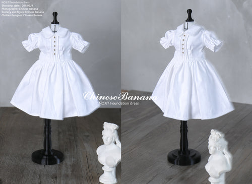 Neo blythe baby clothes Pure color versatile dress