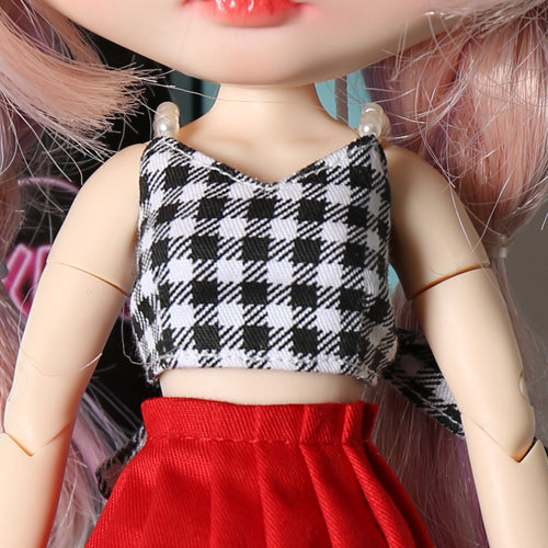 Neo blythe baby clothes pearl sling corset pleated skirt