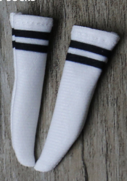 Neo blythe baby clothes, black and white knee socks