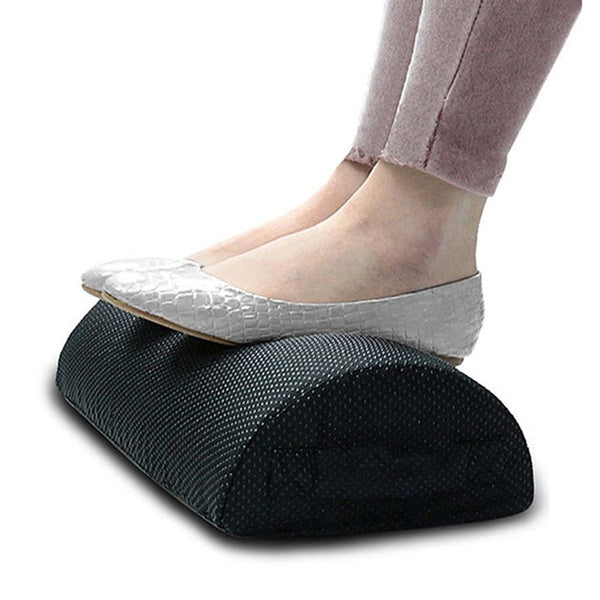 Comfort Foot Rest Pillow Cushion Memory Foam Under Office Desk Half Cylinder Home
