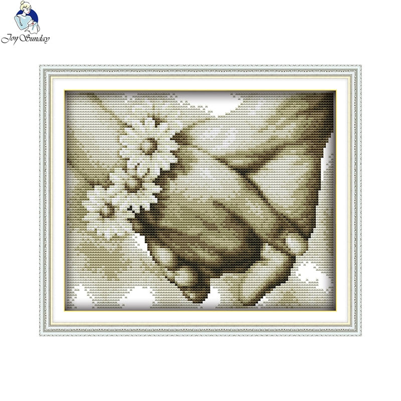 Hand in Hand(3) Patterns Home Decoration Counted 14CT 11CT DMC Cross-stitch Kit Embroidery Needlework