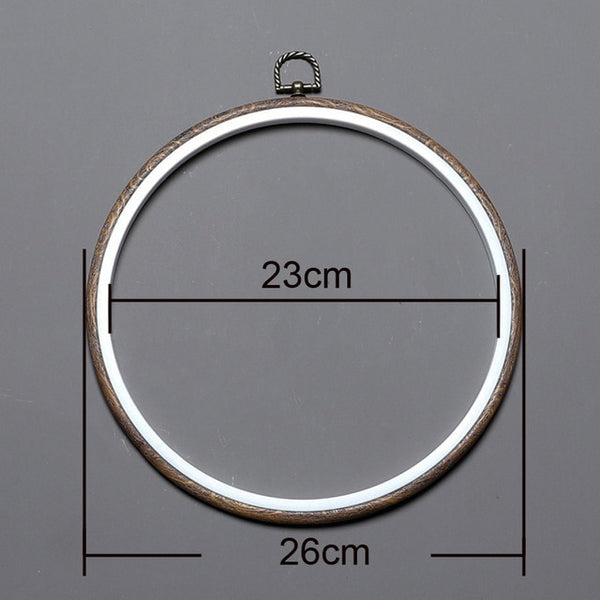Retro Embroidery Hoop Cross Stitch Plastic Oval Round Hoop Ring Photo Frame for DIY Cross Stitch