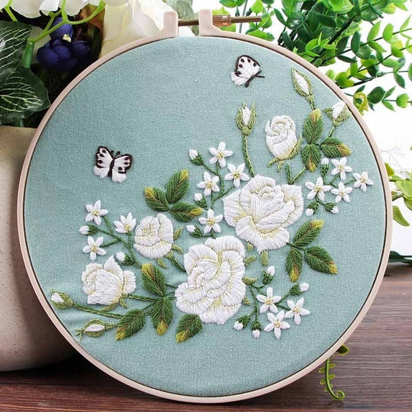 Hand Chinese Flower Embroidery Kits Needlework Kits Floral Cross Stitch