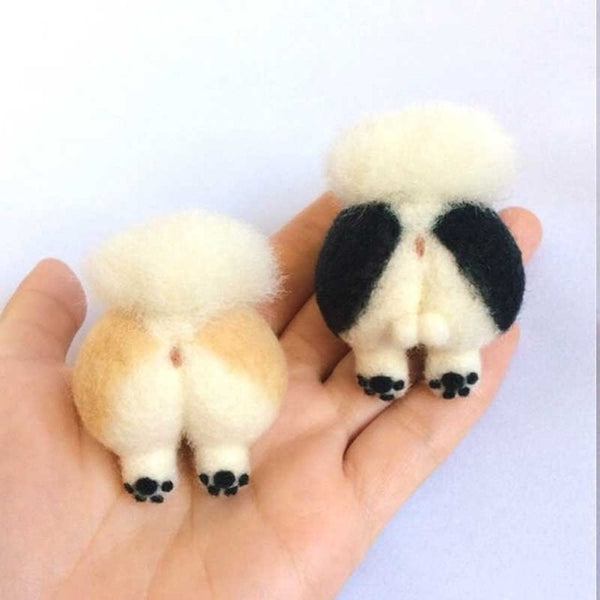 Needle Felting Dog Cat Animal Butt Special Birthday Gift Poked Kits Non-Finished Handcarft