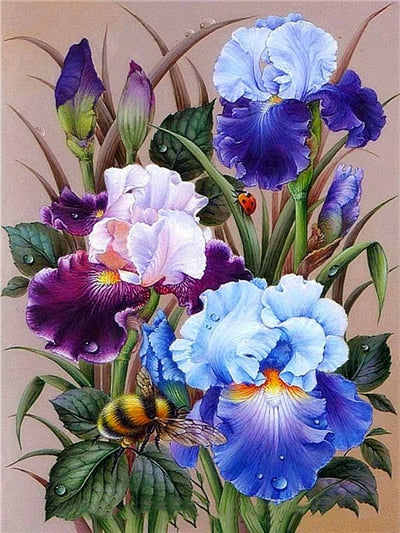 Diamond Embroidery Full Square Floral Diamond Mosaic Flowers Diamond Painting Cross Stitch Picture