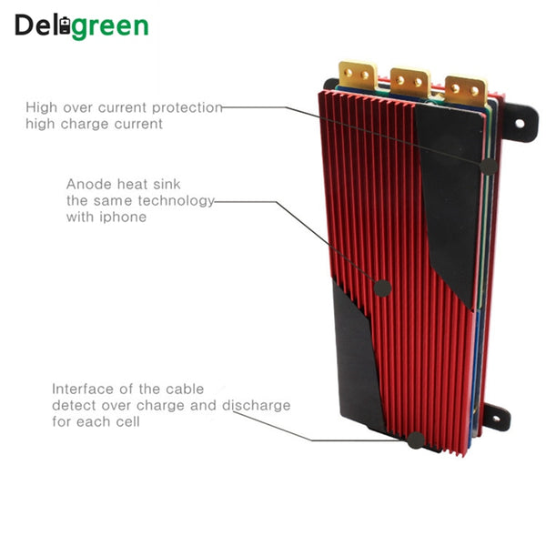 Deligreen BMS 4S 12V 80A 100A 120A 200A PCB BMS for 3.2V LiFePO4 battery pack