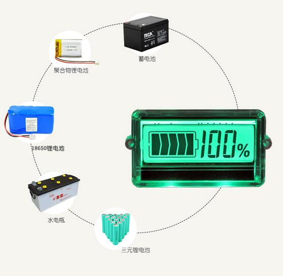 Universal Battery Monitor 12v 24v 36v 48v lead acid Lithium lifepo4 li-ion battery