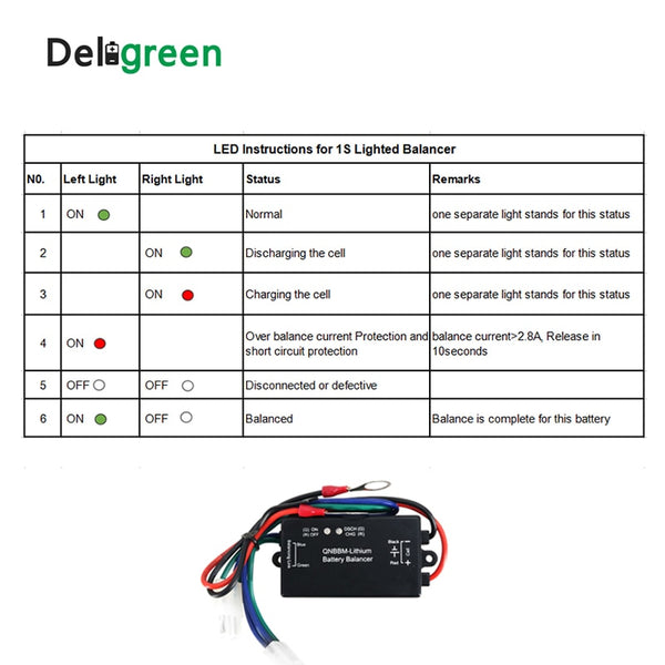 16 pcs Battery Equalizer with Led Indicator 1S Single Cell Li-ion LiFePO4 LTO NCM  Polymer