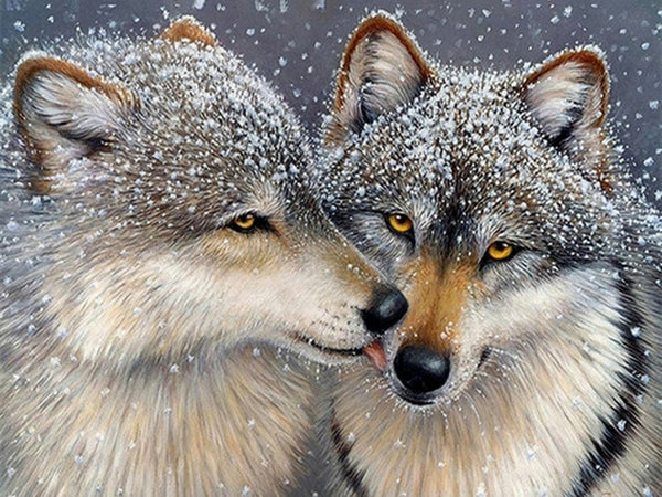 Diamond Embroidery Wolves Diamond Painting Wolf Full Square Cross Stitch Animal 5D DIY Rhinestones