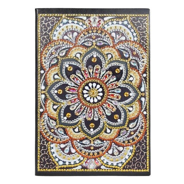 5D DIY Diamond Painting 60Pages A5 Notebook Diary Book Sketchbook Special Shaped Mandala