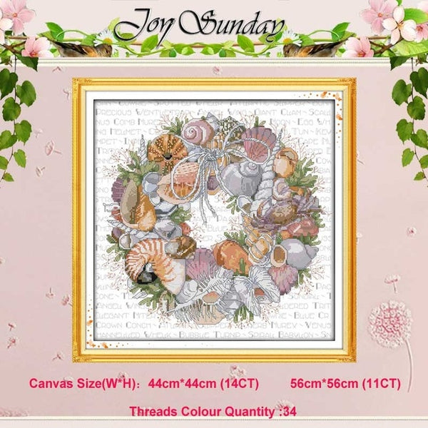 The wreath counted Cross Stitch 11CT 14CT Cross Stitch Set Wholesale DIY flower ird Cross-stitch Kit