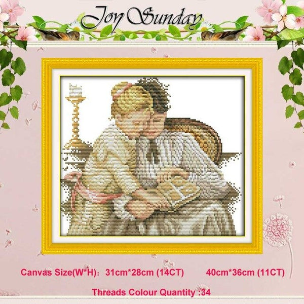 White horse girl lover counted Cross Stitch 11CT 14CT Cross Stitch Set Wholesale DIY Cross-stitch Kit Embroidery Needlework