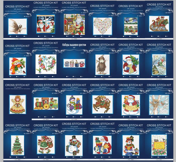 14/16/18/28 Lovely  Counted Cross Stitch Kit Wind Chime Santa Father Dim08766 25styles