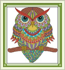 Lovely Owl Cross Stitch Kits 11CT 14CT Chinese Cross Stitch Pattern Embroidery Needlework Set