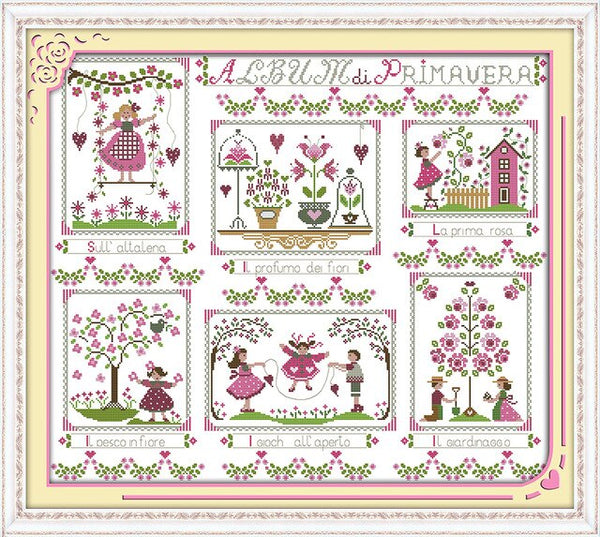 Tapestry Stamped Cross Stitch Kits 11ct 14ct Needdles Embroidery Set Chrinese Counted