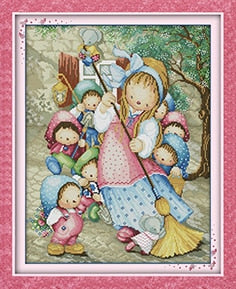 The Princess Counted Cross Stitch Embroidery Sets 11CT 14CT DIY Kits Needlework Cartoon