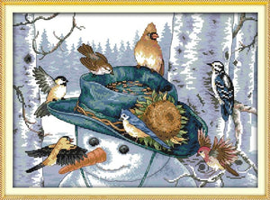 Joy sunday Birds Series Cross Stitch Kits 11CT Printed Fabric 14CT Canvas DMC Counted Cross-stitch