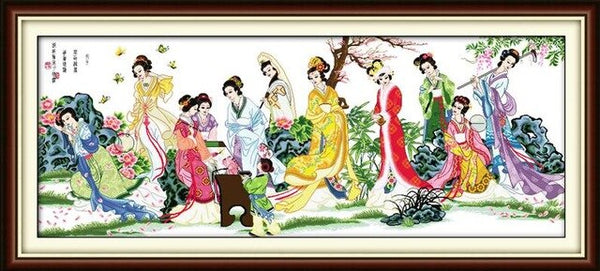 The Fairies Gather Together Super Large Pattern living Room Decoration Grid Embroidery Needlework