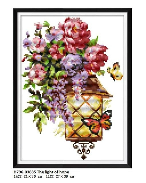 The Light of Fascination Series Aida Canvas Cross-stitch 11CT 14CT Handwork Beginner Embroidery