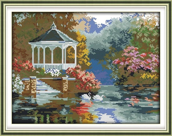 Joy Sunday Beautiful view Series Counted Cross Stitch kits DIY Handwork 14CT and 11CT For Embroidery