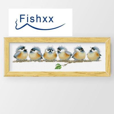 Cross Stitch Kit D506-512 Branch Small Nestling Row Singing Animal Handmade Home Embroidery