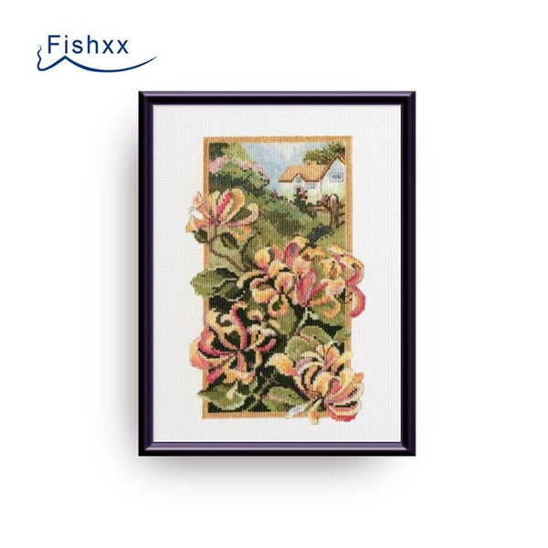 Cross Stitch Kit B876 Plant Flowers Four Paintings B874-877 Living Room Manual Embroidery