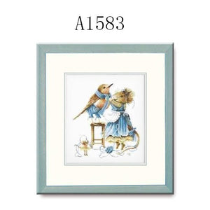Cross Stitch Kits A1583 A2390 Bunny Mother And Daughter Paintings Sets Embroidery