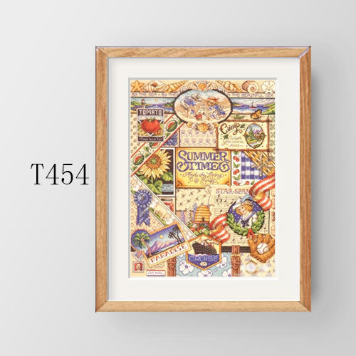 Cross Stitch Kit T453-456 JAN Square Four Figures Spring Summer Autumn Winter Four Seasons