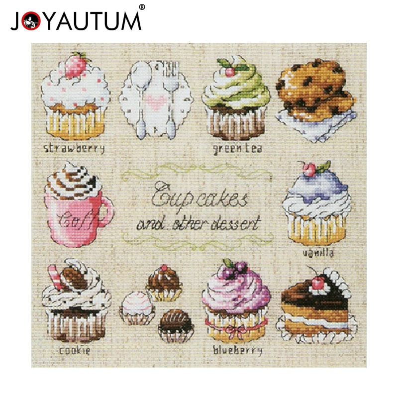 For Embroidery Needlework Cup Cakes and