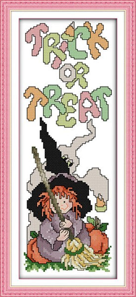 Everlasting love Halloween(1)(pumpkin)  Chinese cross stitch kits Ecological cotton stamped DIY