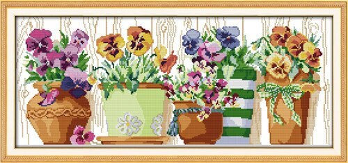 Everlasting love Christmas The pottings on the windowsill  Chinese cross stitch kits Ecological