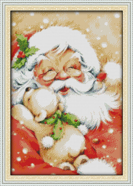 Everlasting love Santa Claus (2)  Ecological cotton Chinese cross stitch kits counted stamped