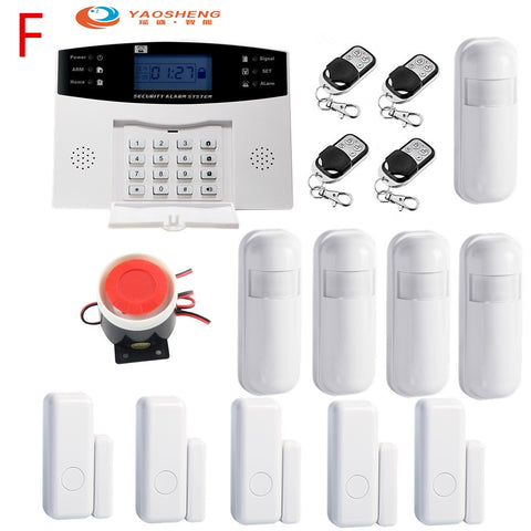 433Mhz Wireless Home GSM Security Alarm System IOS Android APP Control with Metion