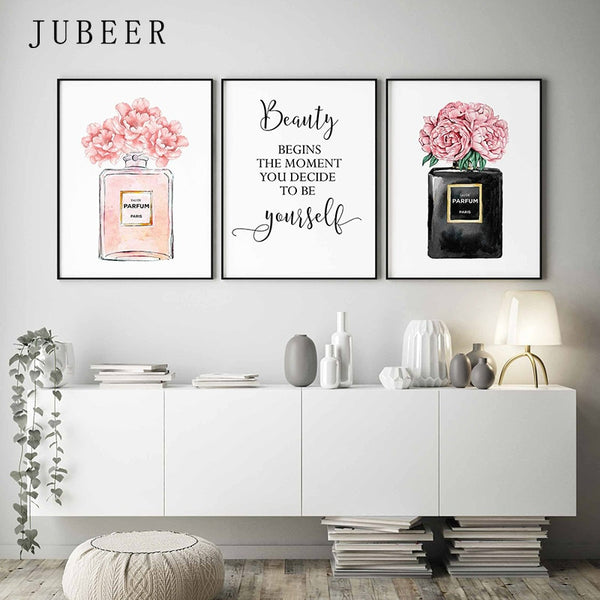 Watercolor Flower Pictures Bedroom Decoration