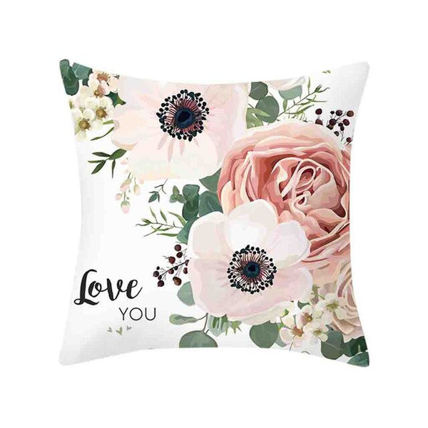 High Quality Square Sofa Pillowcase Cushions Throw Rose Printed Cushion cozy cogines Flower