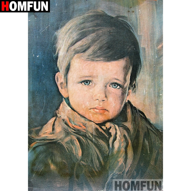 5D Diamond Painting Tears boy Full Square/Round Diamond Embroidery Sale Cross Stitch Home Decor A11393