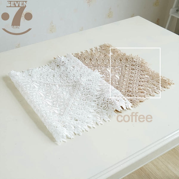 Free Shipping Home Decorative Dining Banquet White Coffee Colour Table Decorative