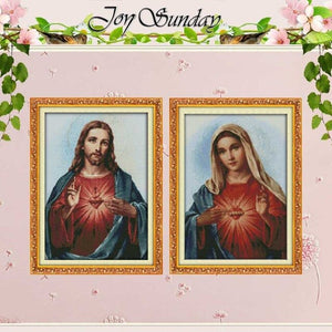 Sacred Heart Patterns Counted Cross Stitch 11CT 14CT Cross Stitch Sets Wholesale Chinese