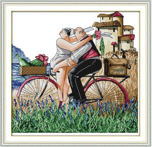 Enjoy life Series,Counted Printed on Fabric DMC 14CT 11CT Cross Stitch kits, Embroidery