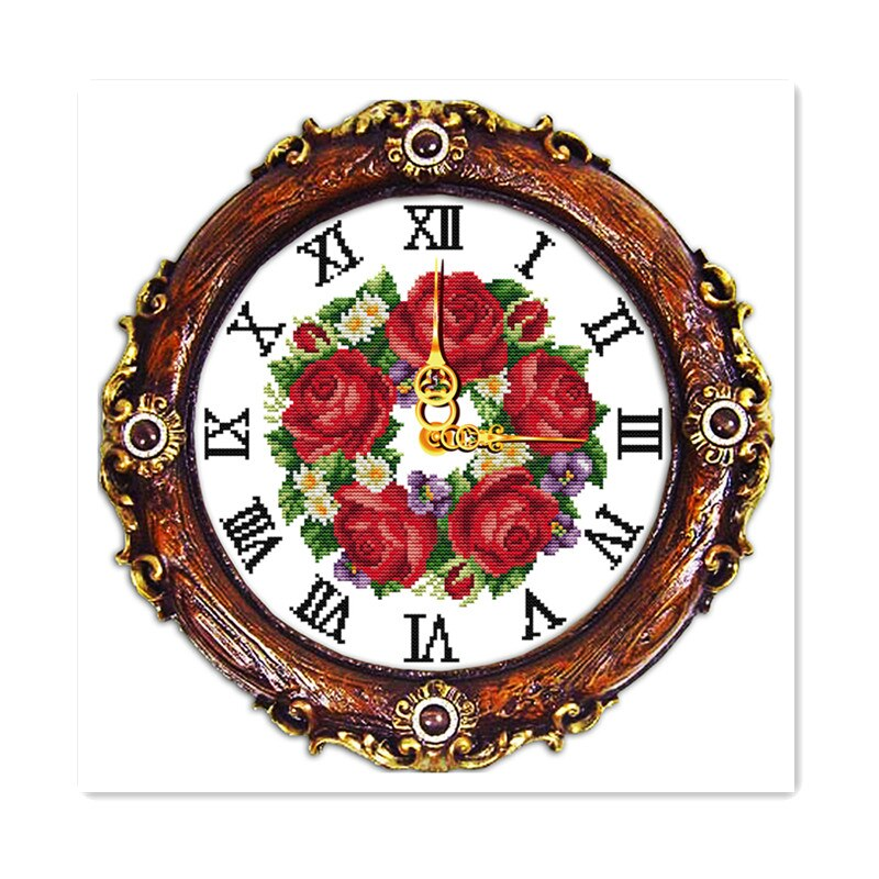 Wall Clock Needlework Live Embroidery