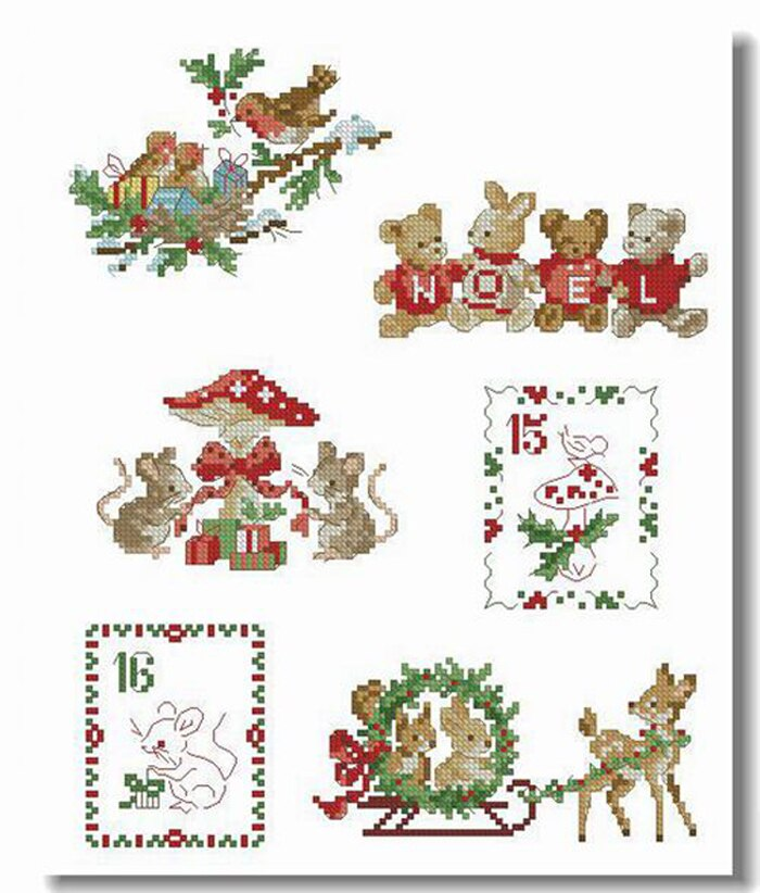 Needlework,DIY Cross Stitch,Sets For Embroidery kits,11CT&14CT,Christmas little animal