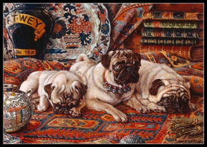 Handmade Decor - Three Pugs
