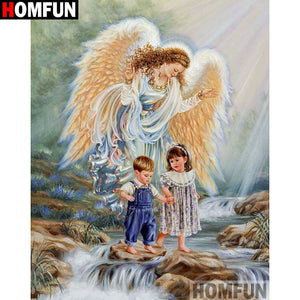 "Full Square/Round Drill 5D DIY Diamond Painting ""Angel child"" Embroidery Home Decor A01387"
