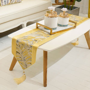Modern Yellow Table Runners Home Decorative for Wedding Party Home Hotel
