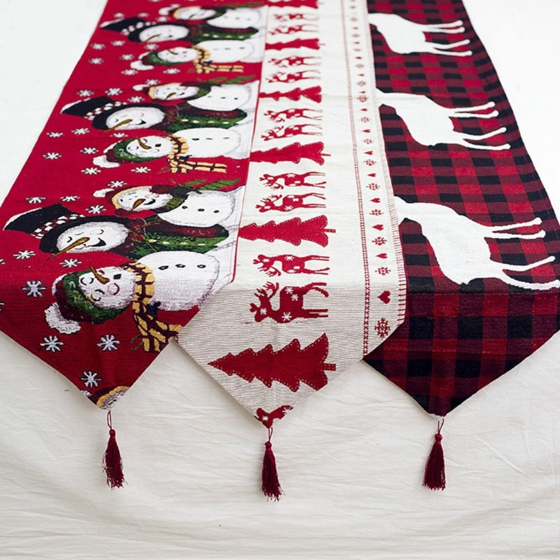 Printed Christmas Table Runner Christmas Table Flag Christmas Tablecloth Dinner Livingroom Wedding Hotel Beautiful