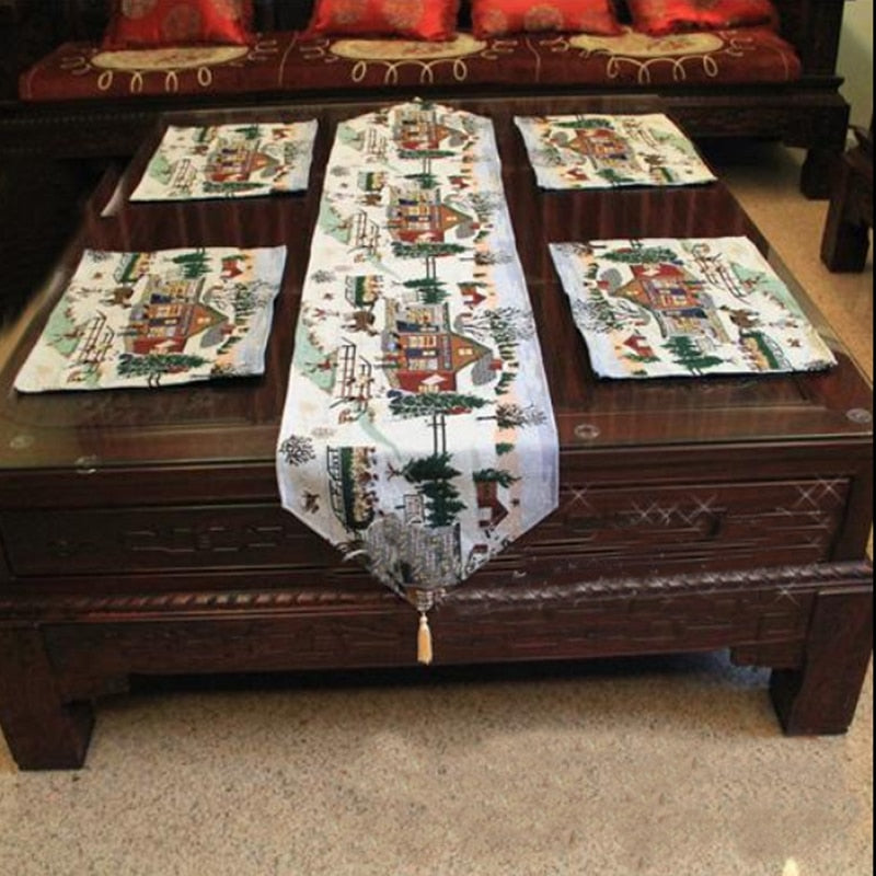 Table Cloth Table Mat  Cushion Set Country Style